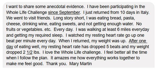 Mary Martin Testimonial