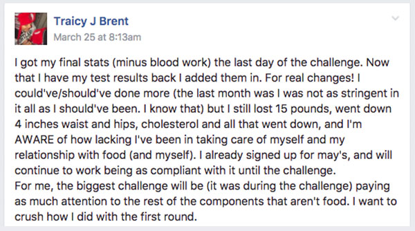 Traicy J Brent Testimonial